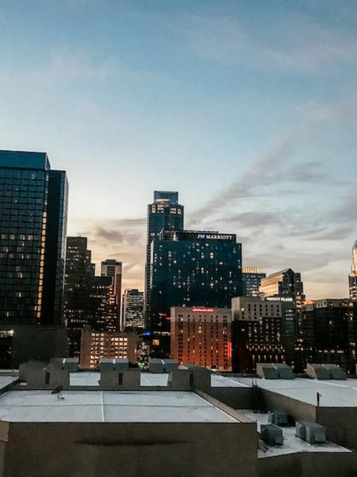 skyline from downtown Austin