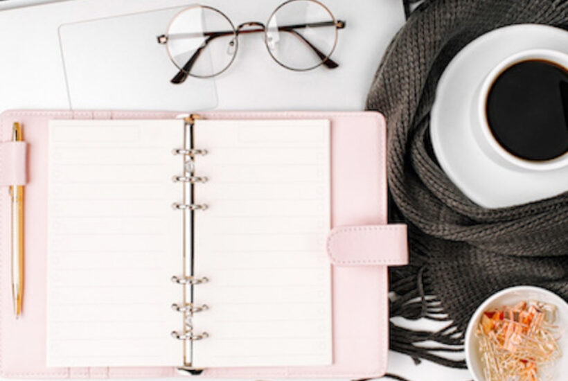 getting organized with a planner