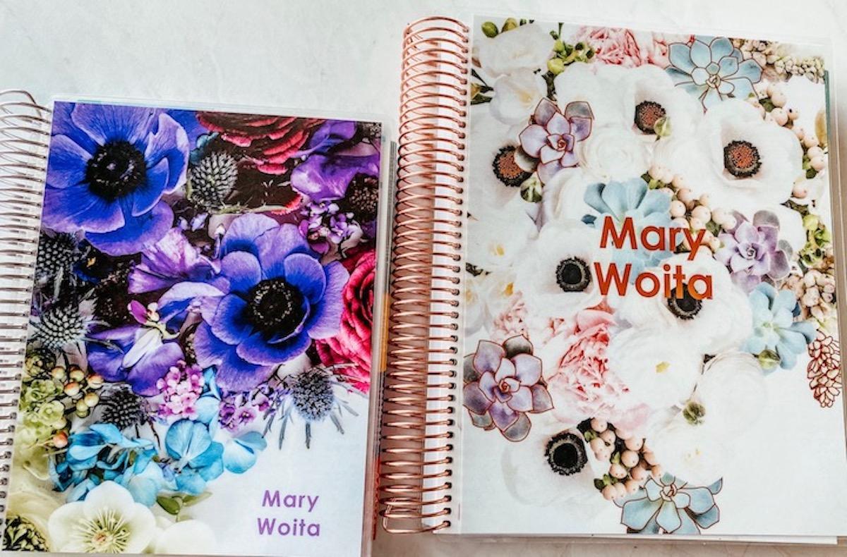 Erin Condren life planner covers in florals